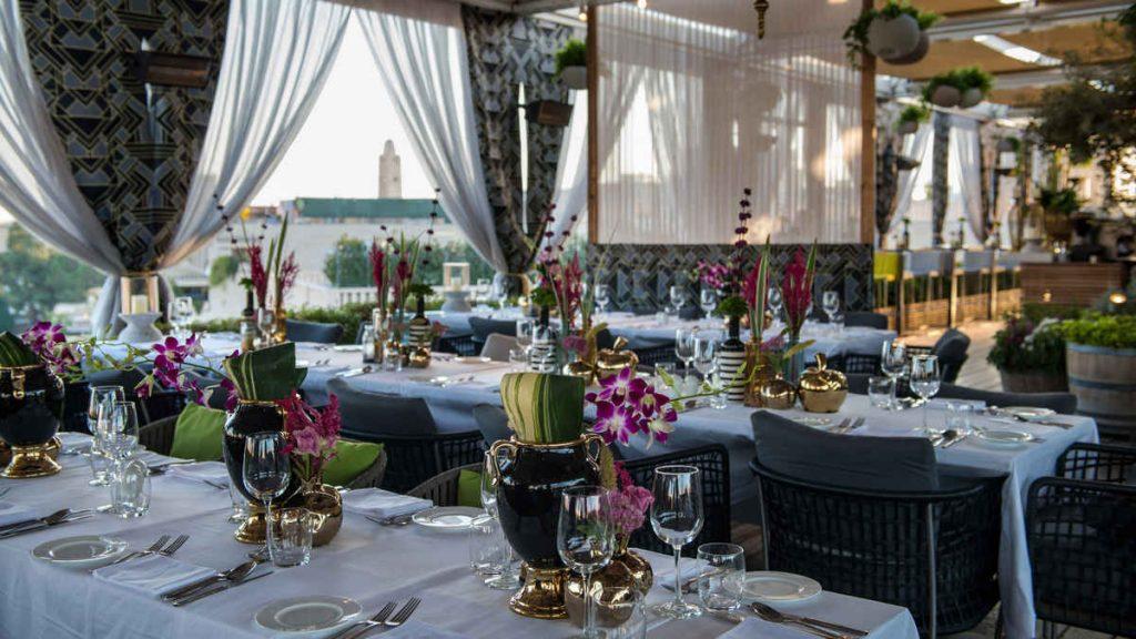 הסוכה היפה של מסעדת רופטופ בירושלים